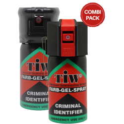 Self-defense spray with and without safety lid - 2-pack